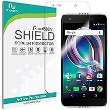 Alcatel Idol 5 Screen Protector (Edge-to-Edge) [Military-Grade] RinoGear Premium HD Invisible Clear Shield Anti-Bubble