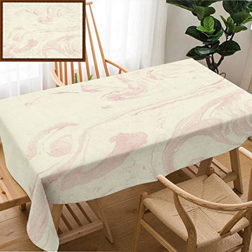 Unique Custom Design Cotton and Linen Blend Tablecloth Hand Drawn Marble Textures Delicate Marble Texture for Your Design Postcard Invitation FabTablecovers for Rectangle Tables, Small Size 48
