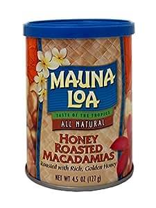 Mauna Loa Honey Roasted Macadamia Nuts Can, 4.5 Ounce
