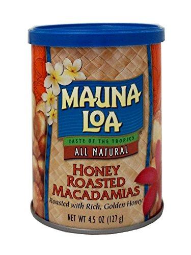 Mauna Loa Honey Roasted Macadamia Nuts Can, 4.5 Ounce - Family Suncatcher