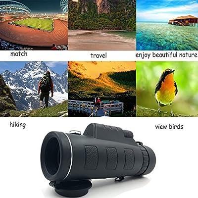 40x60 High Power Monocular Telescope,FMC HD Spotting Scopes with Compass,BAK4 Prism Monocular Scope for Bird Watching,Wildlife,Surveillance,Camping
