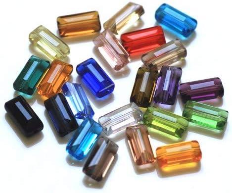 Shape Crystal Charm Beads Glass Beads Jewelry 5pc set