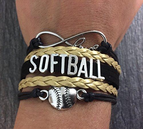 .com: softball bracelet- girls softball jewelry - (12 styles ...