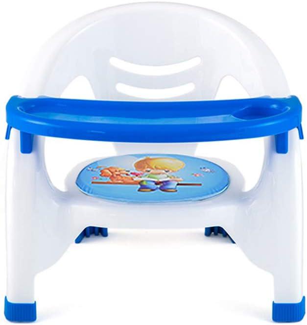 Uso en el hogar Silla para niños Niños pequeños Comedor Asiento Elevador Mesa para Comer Silla de Comedor portátil para bebés Bandeja extraíble Azul,Azul