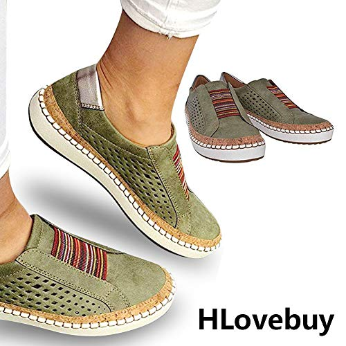 Casual Slide - HLovebuy 2019 New Slide Hollow-Out Round Toe Casual Women's Outdoor Sneakers,Fashion Casual Hollow-Out Round Toe Slip On Shoes Flat for Women