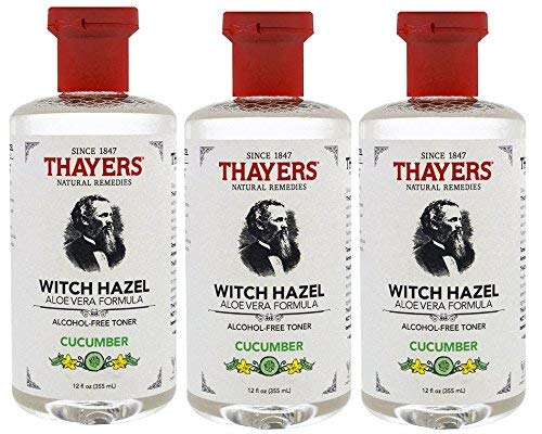 Thayers Alcohol Free Witch Hazel with Aloe Vera, Cucumber 12 oz (Pack of -