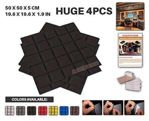 ace-punch-4-pack-black-self-adhesive-hemisphere-grid-acoustic-foam-panel-diy-design-studio-soundproo