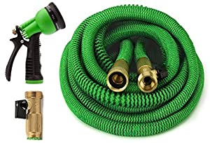 IEKA Expandable Garden Hose, Lightweight&Strongest Flexible Expanding Garden Hose Kit, Heavy Duty Pressure Water Hose Satisfy For Car Wash,Cleaning, Lawn And All Watering Needs(Blue)