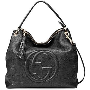 6814abc7a5f Amazon.com  Gucci Soho Flame Red Leather Bag Soft Hobo Italy Handbag ...