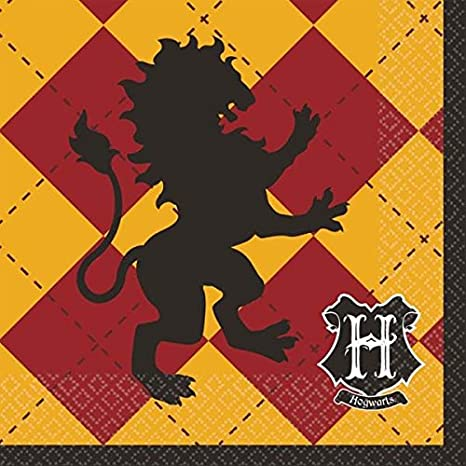 Harry Potter Party Plates Napkins Cups and Table Cover Serves 16 with Birthday Candles - Harry Potter Party Supplies Pack Deluxe (Bundle for 16)