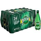 PERRIER Sparkling Mineral Water, 16.9 fl oz. Plastic Bottles  (Pack of 24)