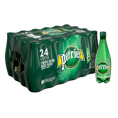 : Perrier Carbonated Mineral Water, 16.9 fl oz. Plastic Bottles (24 Count)