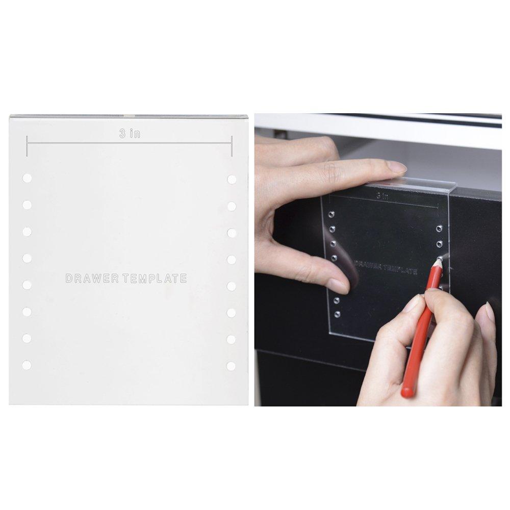 3 inch Hole Centers Lizavo Brushed Satin Nickel Cabinet Pulls Bin Cup Kitchen Cabinet Handles Modern Hardware for Drawer Dresser 76mm 10 Pack …