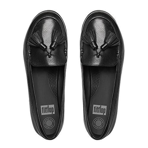 Fitflop F-sporty Tassel Loafer - Mocasines Mujer Black (Black)