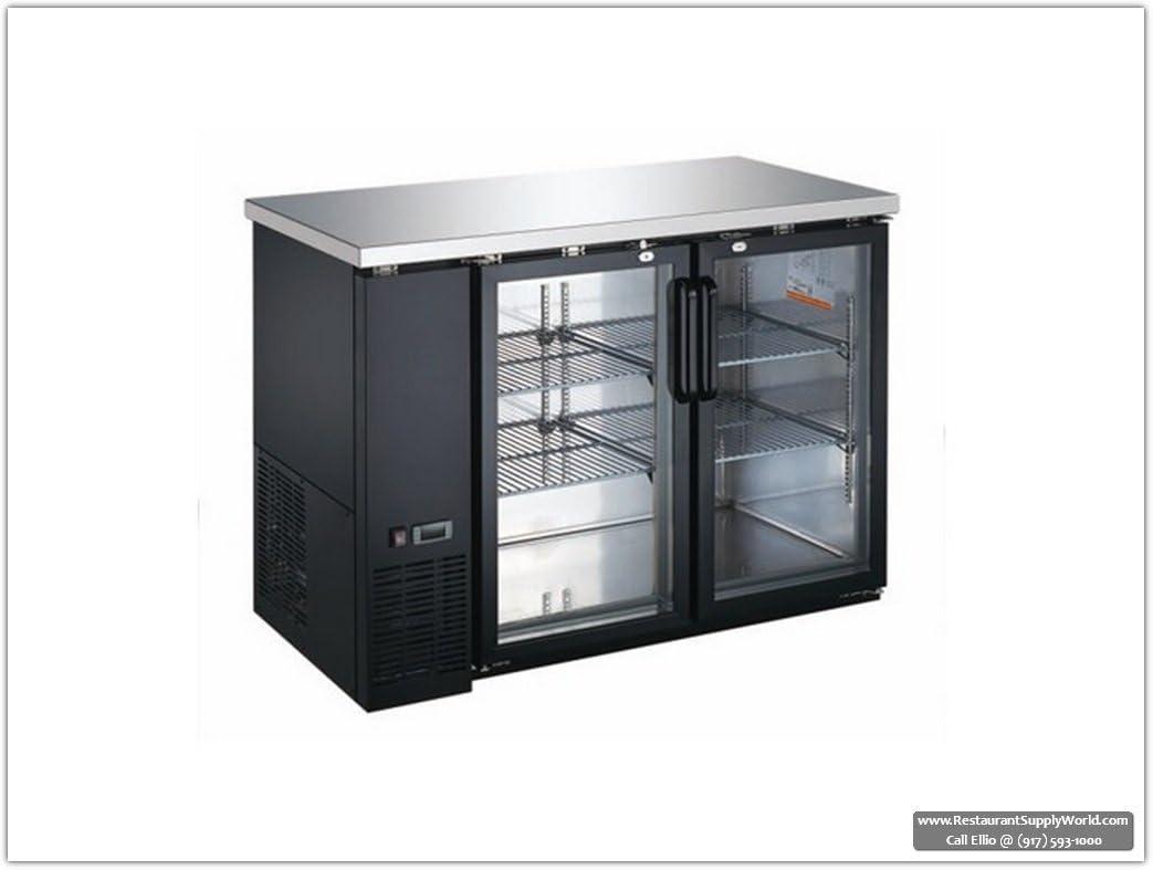 """Universal Coolers BBCI-4824G 48"""" 2-Dr Glass Pull Back Bar Cooler, 110v 510L98Op5LLSL1043_"""