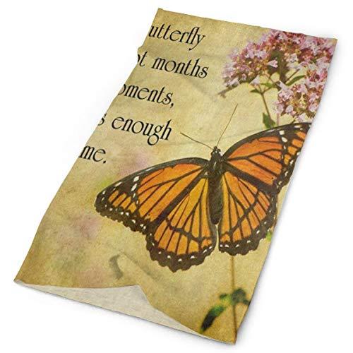 Dresser Butterflies Scarf (Variety Headscarf Custome Vintage Butterfly Floral Quote Headband Sports Headwear Outdoor Scarf Mask Neck Gaiter Head Wrap Sweatband)