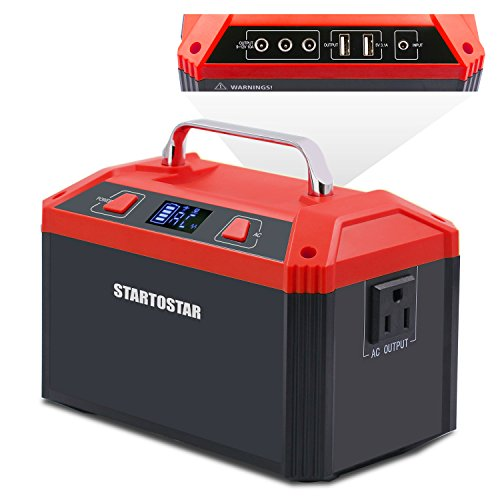 Startostar Portable Generator Power Station, 178Wh 48000mAh Lithium Battery Pack, 150W Rechargeable Emergency Power Supply with 110V AC Outlet, 3 DC 12V, 2 USB 5V