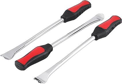 Keenso 3pcs professionale pneumatico leva strumento cucchiaio in acciaio INOX rotella cucchiaio leva Tool kit di riparazione per pneumatici bici moto fasciatoio