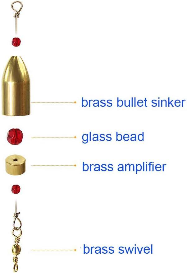 Redgirlxx Pack of 5 Fishing CRR Carolina Ready Rig Brass Size 1//4oz-1oz