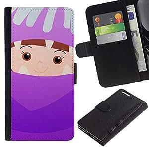 Del niño lindo madre Padres Niños- la tarjeta de Crédito Slots PU Funda de cuero Monedero caso cubierta de piel Para Apple (5.5 inches!!!) iPhone 6+ Plus / 6S+ Plus