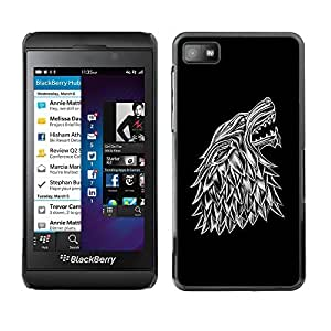 GagaDesign Phone Accessories: Hard Case Cover for Blackberry Z10 - Wolf Crest by mcsharks