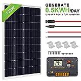 ECO-WORTHY 120 Watt Solar Panel Off-Grid RV Boat Kit:120 Watt Solar Panel+20A LCD...
