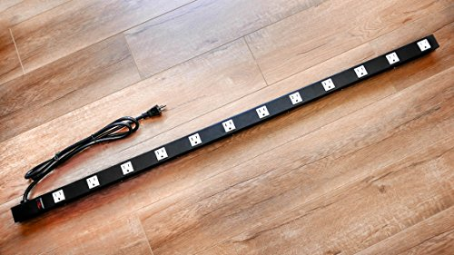 Opentron OT4126 Metal Surge Protector Power Strip 4 Feet 12 Outlet by opentron (Image #4)