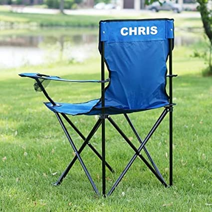 Amazon Com Personalized Folding Lawn Chair Sports Outdoors