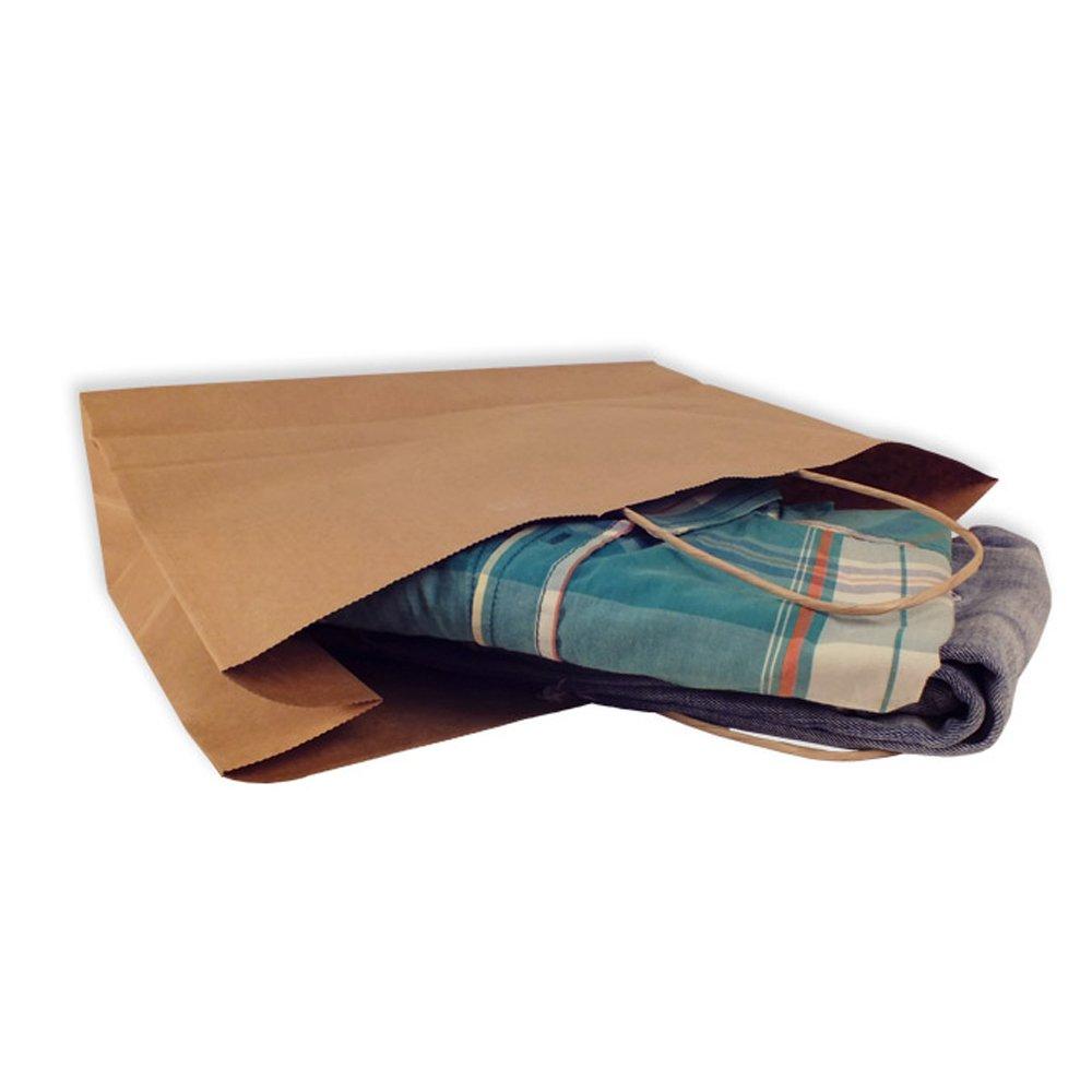 imballaggio commercio speciale per regali compra vendita yearol K01/25/sacchetti carta kraft con manici decorazioni trasporto. 30/cm 22/cm 9/cm