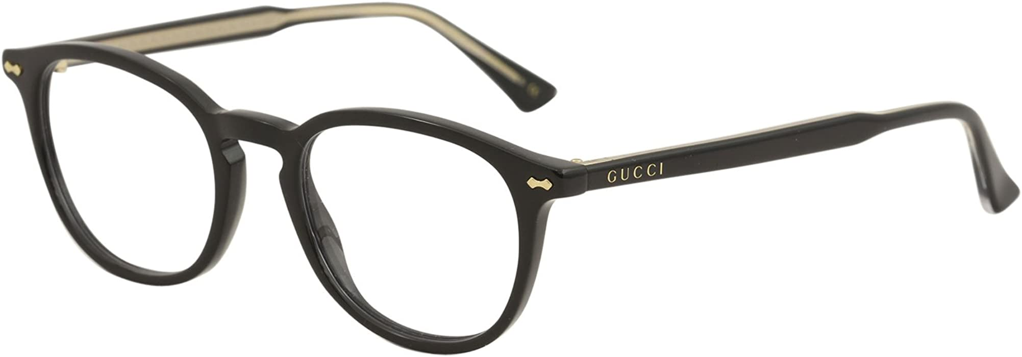 83ec8546681 GG0187O Vintage Inspired Panthos Style Eyeglasses 49mm. Eyeglasses Gucci GG  0187 O- 005 BLACK