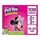 Pull Ups Easy Open Sides Learning Designs Training Pants for Girls, 2T-3T, 108 Count