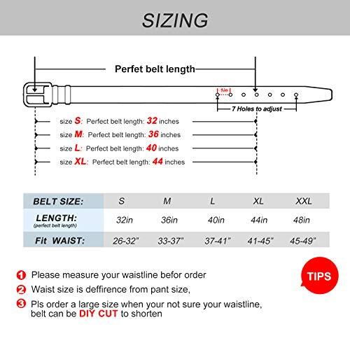 Men's Belt, XZQTIVE Leather Reversible Belt 1.3