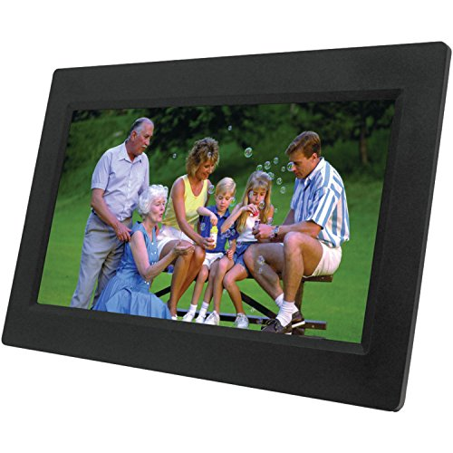 NAXA Electronics NF-1000 10.1-Inch TFT LCD Digital Photo Frame with LED Backlight 1024 x 600 (Black) (Naxa Digital Photo Frame)