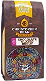 Christopher Bean Coffee Decaffeinated Ground Coffee, Chocolate Glazed Donut, 12 Ounce