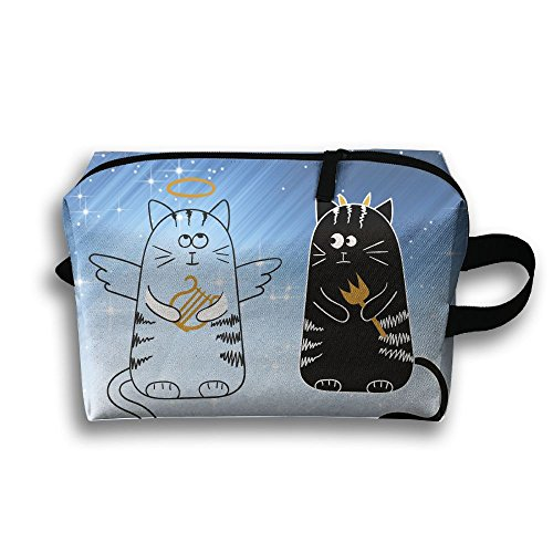 Travel Bags Angel And Devil Cats Portable Storage