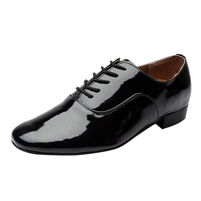 Darringls_Zapatos de hombre,Zapatillas de Danza para Hombre Paint Black: Amazon.es: Ropa y accesorios