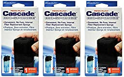 Penn Plax Cascade 600 Internal Filter Replacement Cartridges (3-Pack Bio Foam)