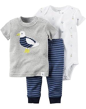 Carter's 3 Piece Pant Set, Blue, New Born