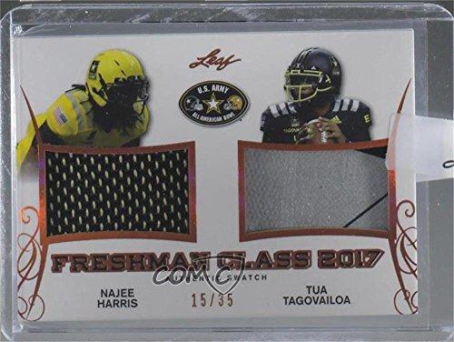 Najee Harris  Tua Tagouailoa Ungraded Manufacturer Uncirculated   35  Football Card  2017 Leaf Metal U S  Army All American Bowl   Freshman Class  Fc 01