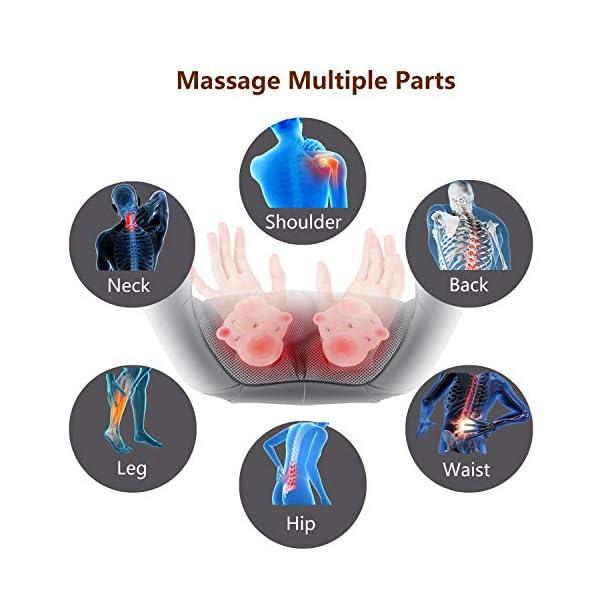 UKEER Massaggiatore Cervicale e da Collo, 3D Shiatsu Massaggiatore per Collo e Spalle rullo massaggio muscolare Con… 3 spesavip