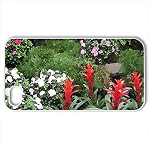 Conservatory of flowers in Edmonton 03 - Case Cover for iPhone 4 and 4s (Flowers Series, Watercolor style, White)