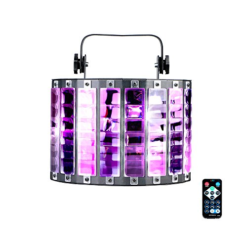 Gohyo Dj Ballroom Light 27 Watts 9 Colors LED Sound Control & Auto-Run Stage Butterfly Lights DMX 512 KTV Private Room Dance Floor Rotating Projector