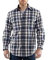 Carhartt Men's Kempton Plaid Shirt Button Front Flannel Original Fit