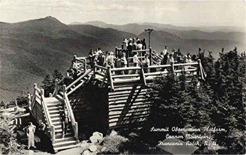 Summit Observation Platform, Cannon Mountain Franconia Notch, New Hampshire Original Vintage Postcard New Hampshire Platform