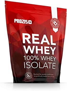 Prozis 100% Real Whey Isolate Proteína para Pérdida de Peso, Recuperación Muscular y Culturismo, Contenido Mínimo de Grasa, Chocolate - 1000g