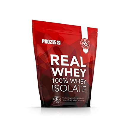 Prozis 100% Real Whey Isolate Proteína para Pérdida de Peso, Recuperación Muscular y Culturismo, Contenido Mínimo de Grasa, Frutas del bosque - 1000 g