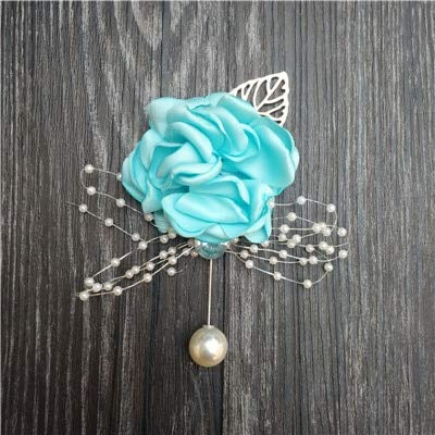 CoronationSun - Brooch for Women - Silk Rose Flower Groom Bride Wrist Corsage Man Suit Brooch Women Hand Wedding Flowers Party Decoration Xf08