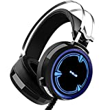 Gaming Headset, Backever Stereo Gaming Headphones 3.5mm Wired Noise Cancelling Over Ear Headphones Gaming Earphones with Microphone and LED Lights for PC Laptop Mac Computer Review