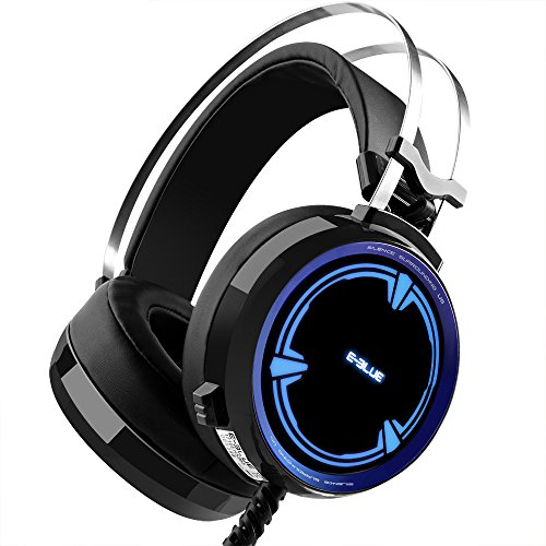 Gaming Headset, Backever Stereo Gaming Headphones 3.5mm Wired Noise Cancelling Over Ear Headphones Gaming Earphones with Microphone and LED Lights for PC Laptop Mac Computer