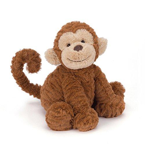 Jellycat Fuddlewuddle Monkey Stuffed Animal, Medium, 9 inches
